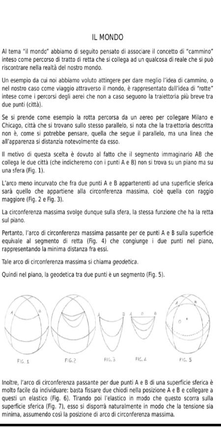 """Progetto di matematica: """"Le rotte del mondo"""" (pag. 1). I disegni sono stati realizzati dagli studenti."""